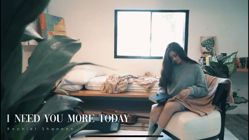 """The Official Lyric Visualizer of """"I Need You More Today"""" by Raphiel Shannon."""