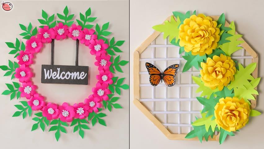 WOW!!.. 10 Beautiful DIY Paper Wall Hanging Craft Idea #DIYRoomDecor