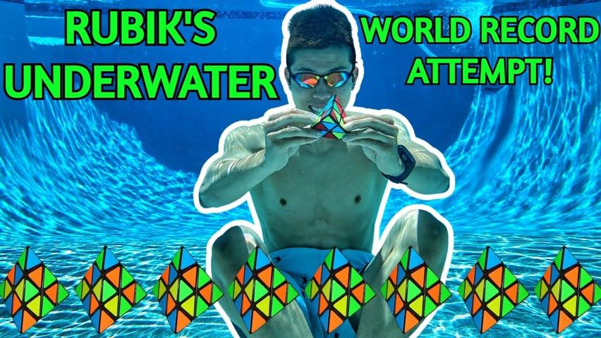 Trying the Underwater Rubik's World Record! (Pyraminx)