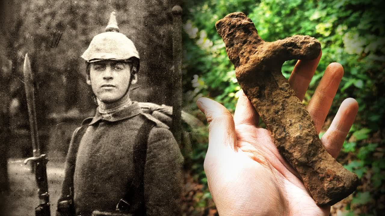 Metal Detecting WW2 / WW1 - AWESOME German WWI Bayonet Found! Relics from Different Time Frames!