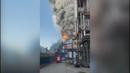 9月22日,江蘇常州,中天鋼鐵南廠區突發火災,具體傷亡情況不明。  #大紀元新聞網