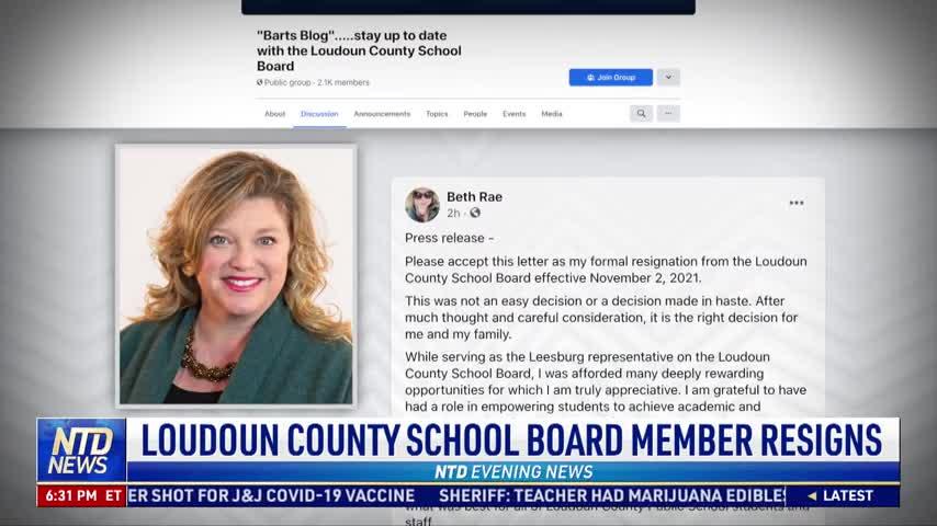 Loudoun County School Board Member Resigns