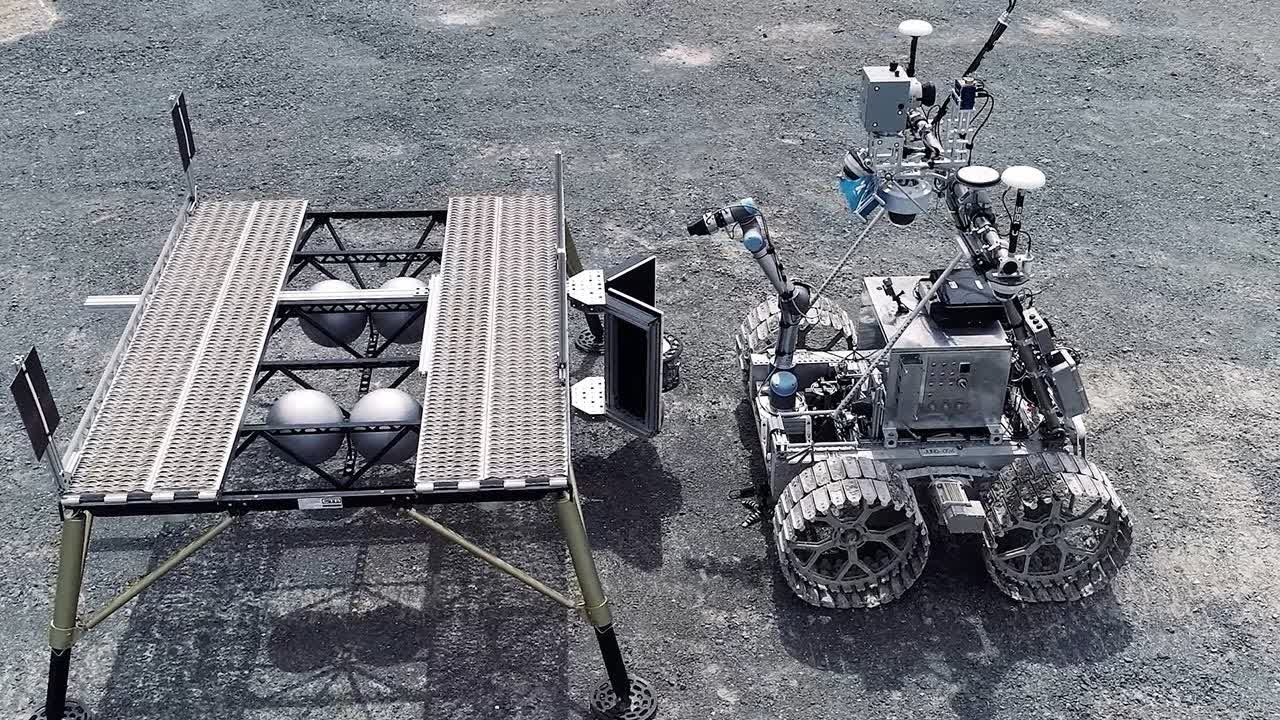 The Juno rover, training to recover samples on the surface of other worlds.