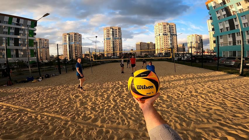 Волейбол от первого лица | BEACH VOLLEYBALL FIRST PERSON | 124 episode
