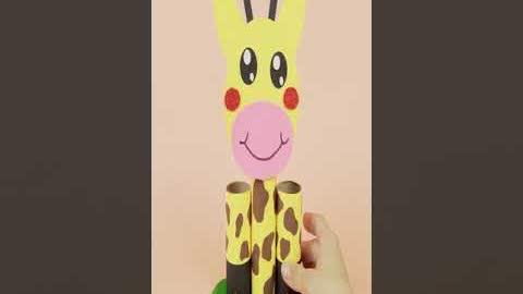 How To Make Giraffe Holder   DIY Desk Organizer #shorts