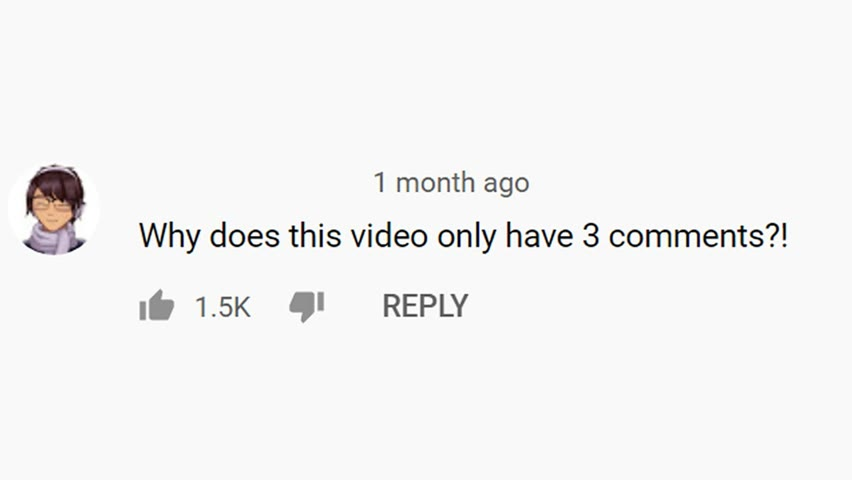 this video only has three comments