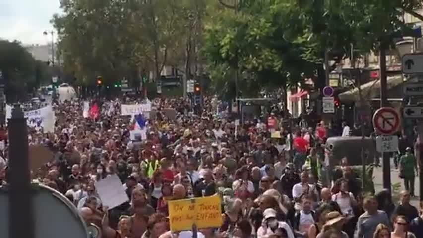 Anti Vaccine Passport Protests in France