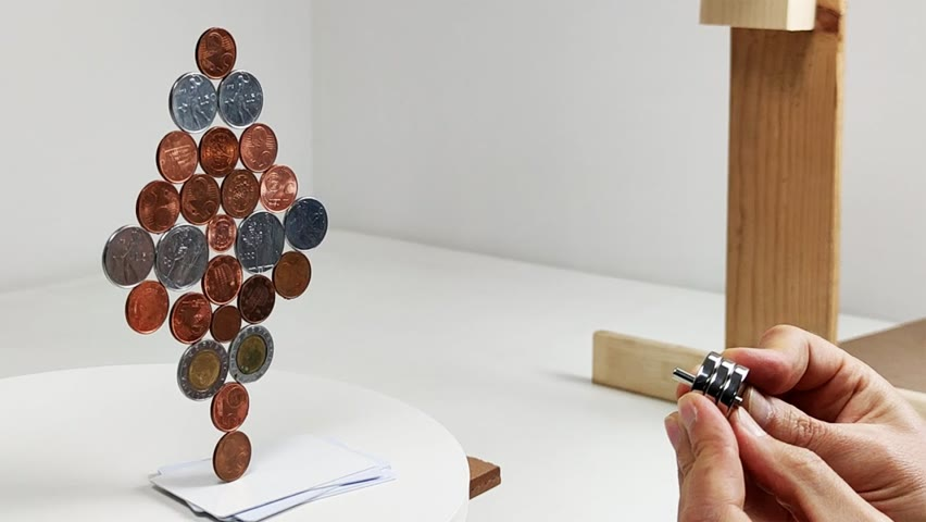 Coins in a magnetic field   Magnetic Games