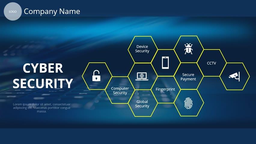 Cyber Security Slide in PowerPoint