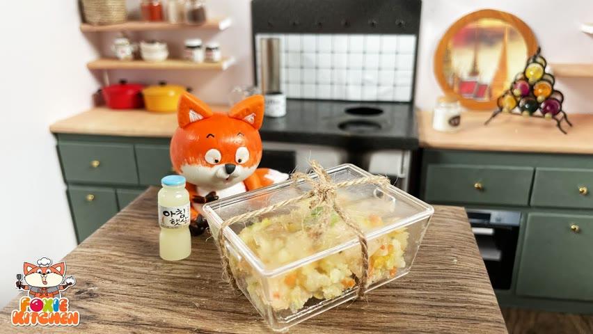 [ENGSUB] Lunch box #8 - Fried Rice   ASMR Mini Cooking