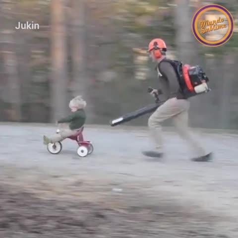 ¡Este papá tuvo una divertida idea!