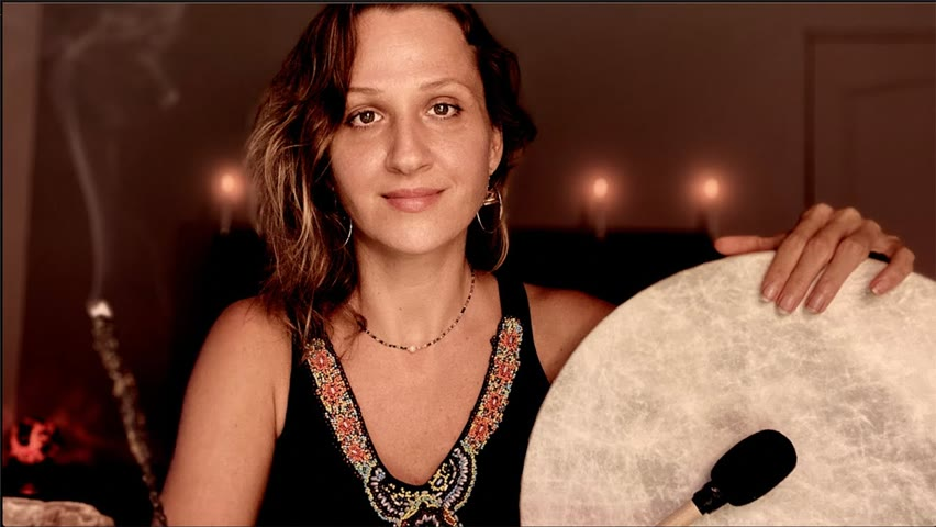1 Hr Shamanic Drumming For Sleep | Guided Meditation | Busy Minds, ADHD,  Non Duality