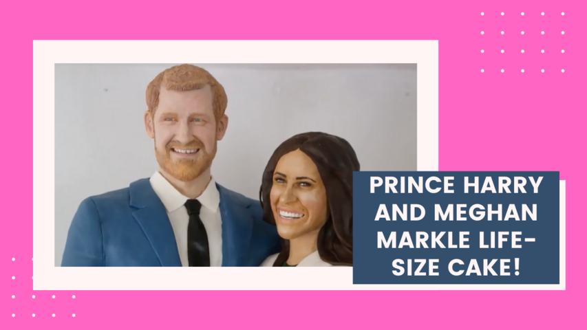 Prince Harry and Meghan Markle life-size CAKE!