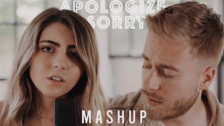 Apologize/Sorry (Acoustic Mashup)   Jonah Baker and Jada Facer