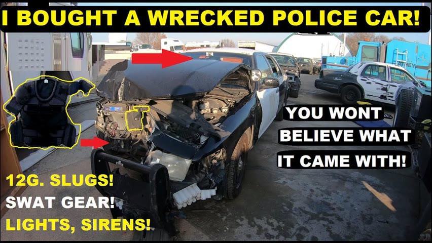 Searching Police Cars! Found an OPTICOM! Swat Gear! 12g. Slugs!