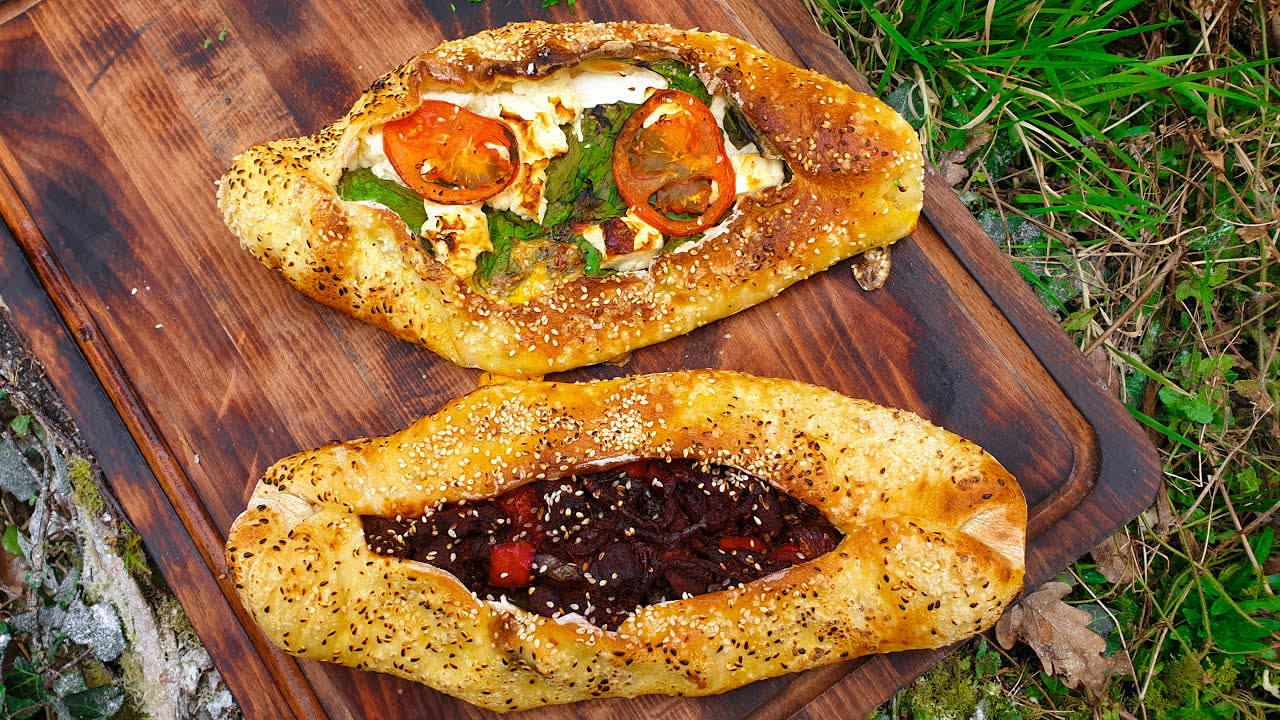 Delicious Turkish Pide From Irish forest🔥 Relaxing cooking 🔥 NO TALK