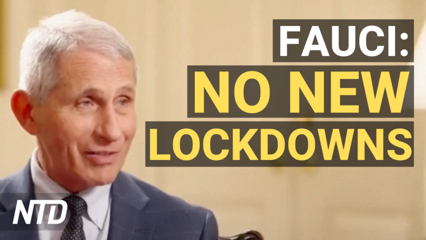 Fauci Says He Expects No New U.S. Lockdowns; AOC: Can't Blame GOP for Eviction Ban End