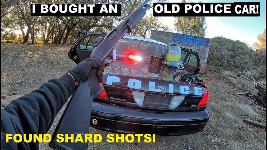 Searching A Decommission Police Car found Shotgun Shard Shots!