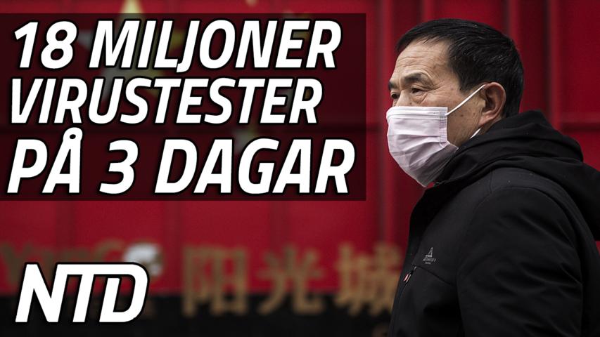 Kinas tredje största stad kämpar mot ny virustopp | NTD NYHETER