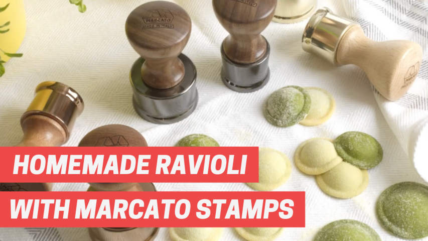 Homemade ravioli with Marcato Stamps, Video tutorial