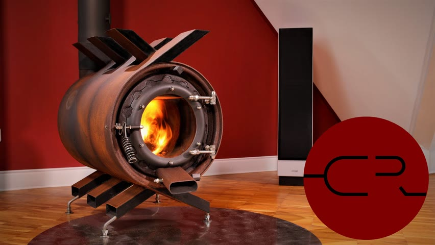 Air Vent Stove from Car Rims