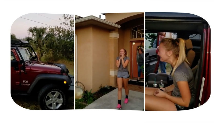 Family Surprises Daughter With New SUV