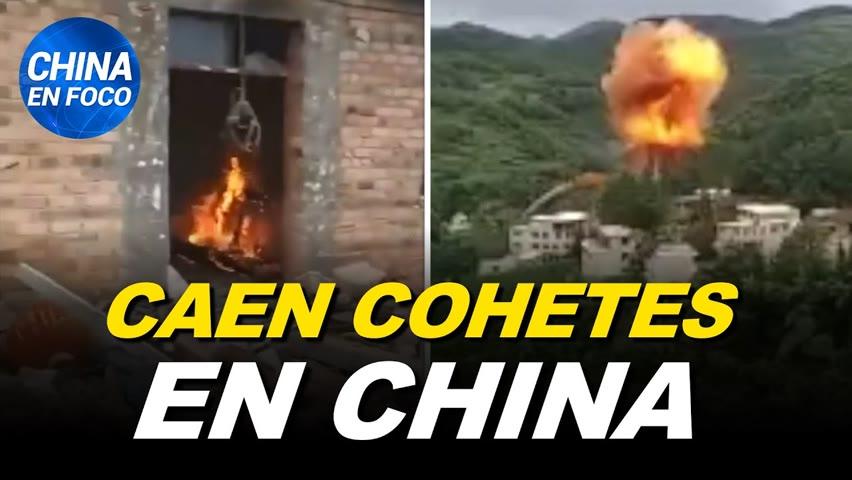Cohetes fallidos caen en ciudades chinas. Sacrifican gatos con covid en China