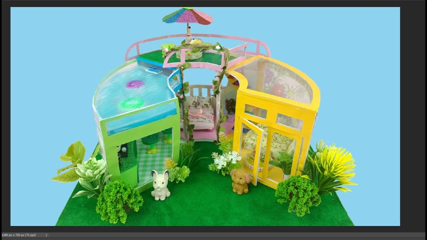 DIY Miniature Eco-Friendly House With A Rooftop Swimming Pool | DIY Miniature House | Cocokid Corner