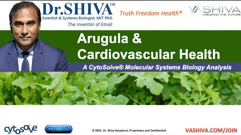 Dr.SHIVA LIVE: What Arugula Salad Can Do for Your Heart. A CytoSolve Analysis.
