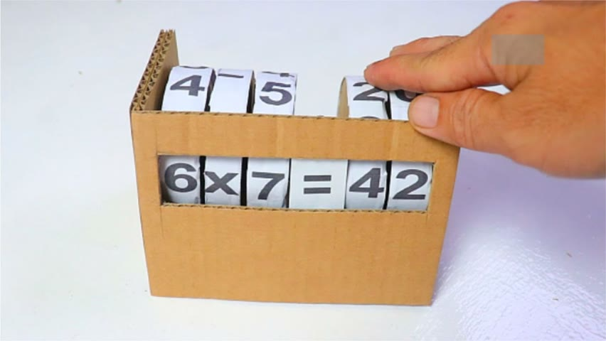 How to make Maths Learning Model from Cardboard | Maths Learning Machine Idea