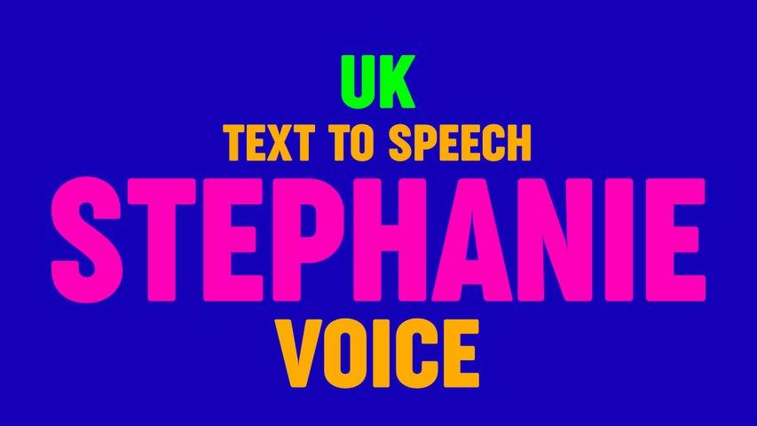 Text to Speech STEPHANIE VOICE, US