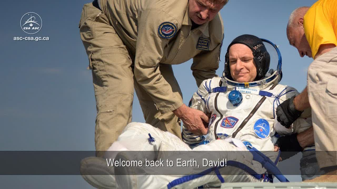 Canadian Space Agency astronaut David Saint-Jacques returns to Earth