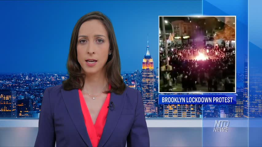 ORTHODOX JEWS PROTEST NEW NYC LOCKDOWN MEASURES