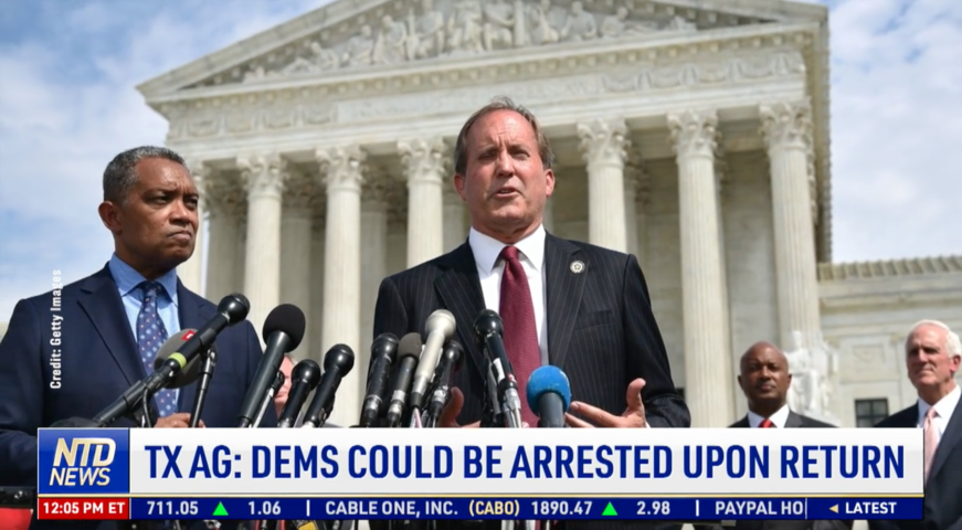Texas Attorney General: Democrats Could Be Arrested Upon Return