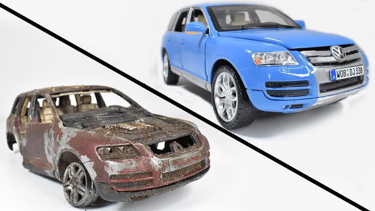 Restoration Abandoned Volkswagen Touareg Model Car
