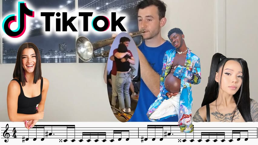 TikTok Songs played on Trumpet (Heat Waves, 6 ft. tall, Couch Guy...) with sheet music!
