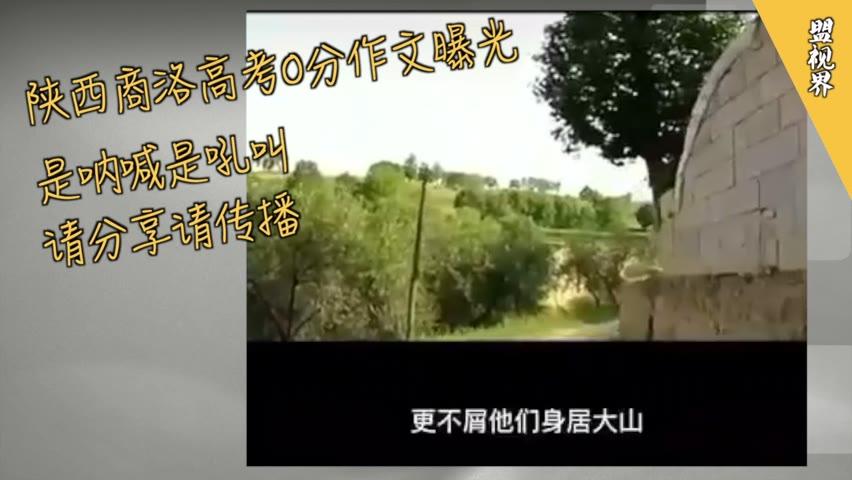 中国教育再创新黑!陕西高考0分作文曝光。是呐喊是吼叫!请分享请传播!