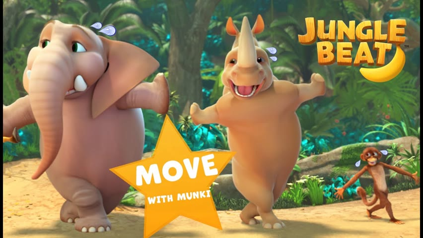MOVE with Munki! | Jungle Beat: Munki and Trunk | VIDEOS and CARTOONS FOR KIDS 2021