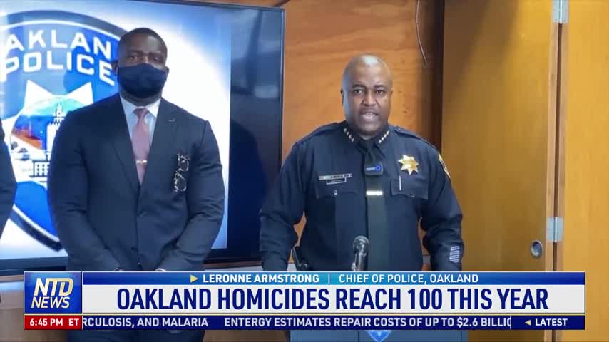 California Bay Area City's Homicide Reaches 100 This Year