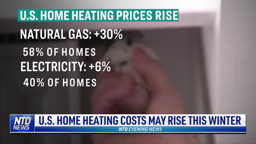 US Home Heating Costs May Rise This Winter