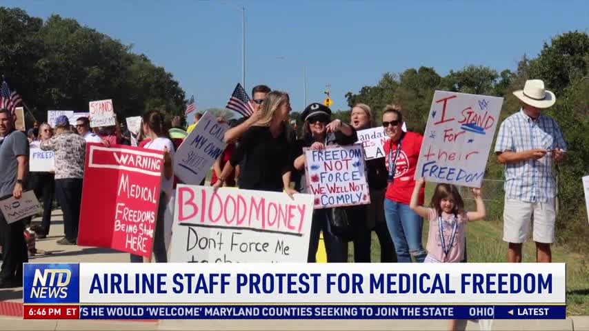 Airline Staff Protest for Medical Freedom