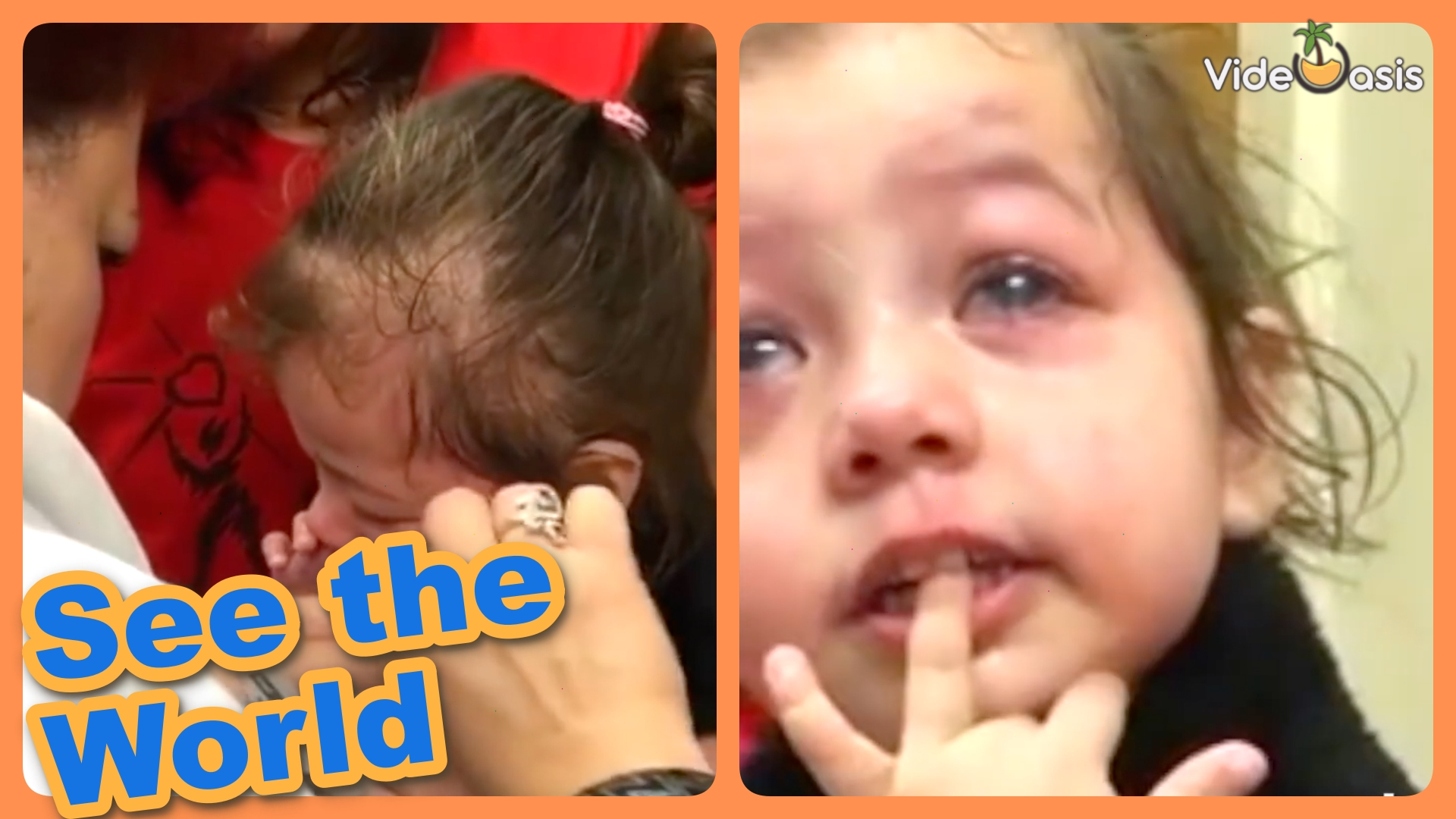 The toddler finally can see her mom after miracle surgery |VideOasis