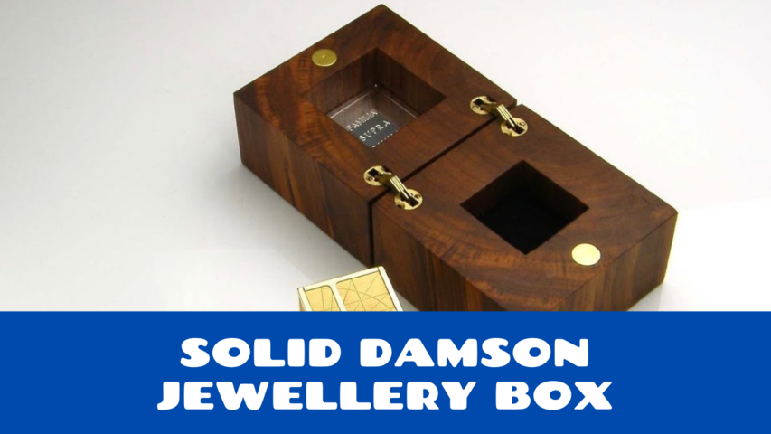 Solid Damson Jewellery Box