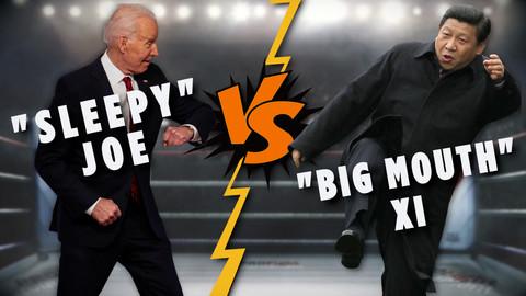 """""""Sleepy"""" Joe VS """"Big Mouth"""" Xi: Will China take over Taiwan after Hong Kong?"""
