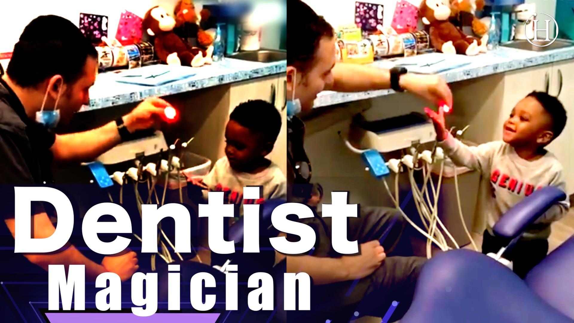 Dentist Magician Entertains Kid   Humanity Life