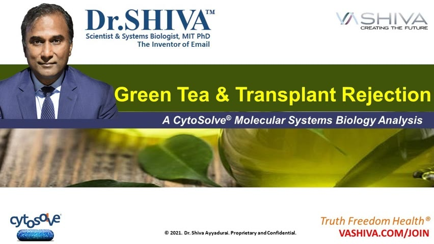 Dr.SHIVA LIVE: CytoSolve Discovers Molecular Mechanisms of Green Tea Reducing Transplant Rejection