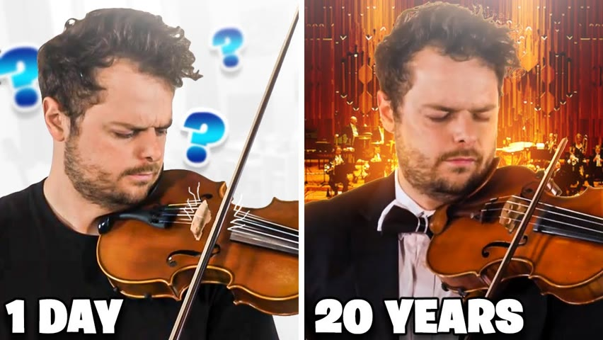 1 Day vs 20 years of Playing VIOLIN
