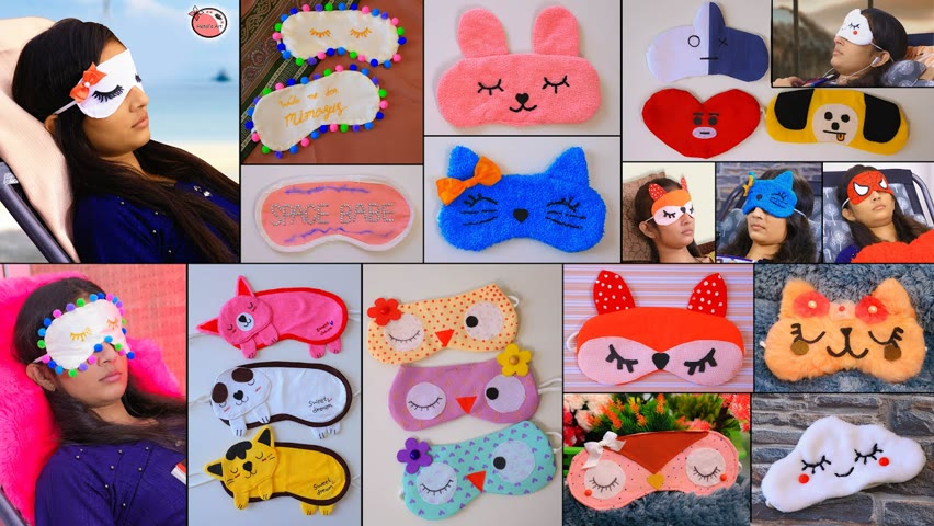 Clothes DIY❤️ Best Way to Sleep!!.. Cute DIY Sleep Masks Making At Home #ReuseOldClothes