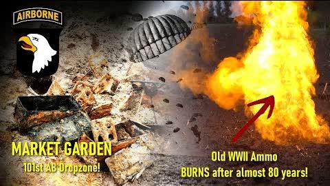 Metal Detecting WW2 - Famous 101st Airborne DROPZONE MARKET GARDEN - Old WWII Gun Powder BURNS!