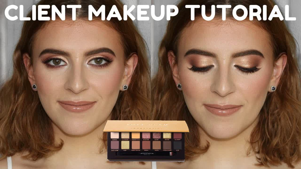 Daytime Glam ft. ABH Soft Glam Palette   CLIENT MAKEUP TUTORIAL